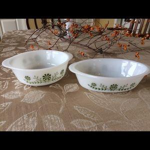 Vintage Glasbake Casserole Dish Set